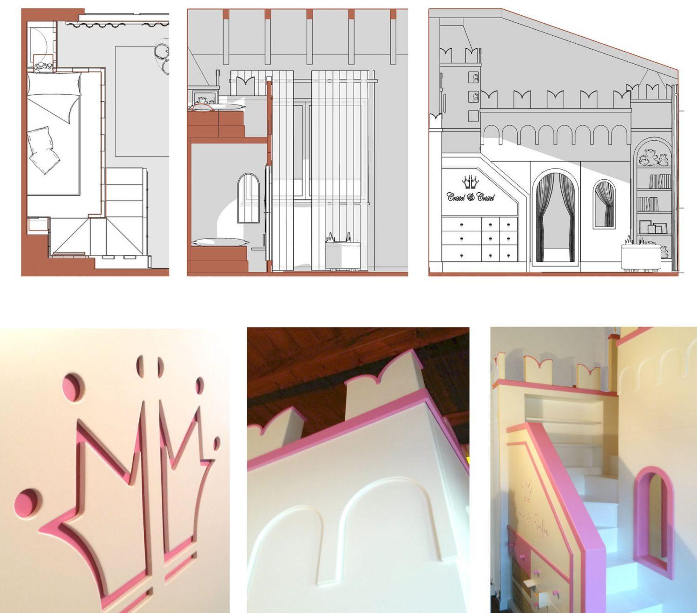 Castello - particolari progetto e realizzazione