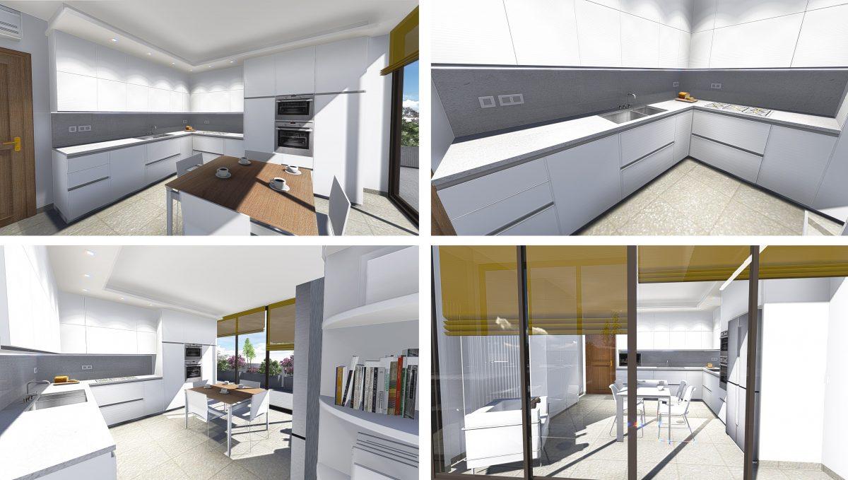 cucina angolo - viste di progetto | Arredamenti 2D